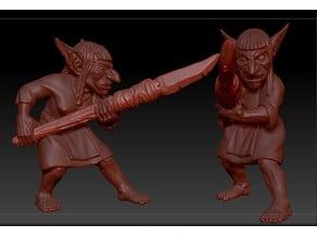 Armed Goblin Female Peasant
