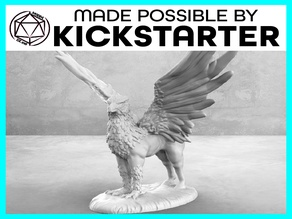 Hippogriff - Casual Pose - Tabletop Miniature