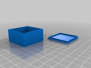 Smart Calibration Cube 40x40x20mmx0.8mm -  You can use it like Small Storage Cube Box with Lid
