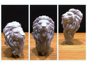 Lion Head Lowpoly FIXED