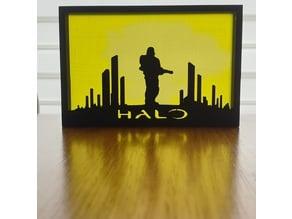 Halo Silhouette Art