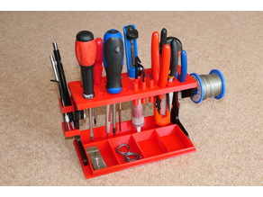 Desktop Tool Rack Organizer for small hand tools