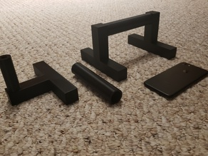 Pushup bars (NO SUPPORTS, 1 handle and 2 stands per bar, 6 pieces total, 572 grams)