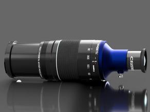 Canon EF lens to Spyglass/Telescope coverter v2