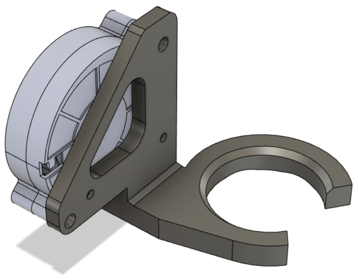 E3D Hemera front-side 5015 part cooling fan mount (semi-usable)