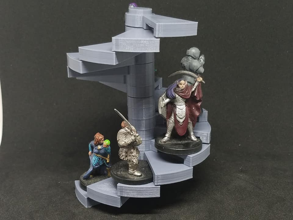 Modular Spiral Staircase 28mm Scale