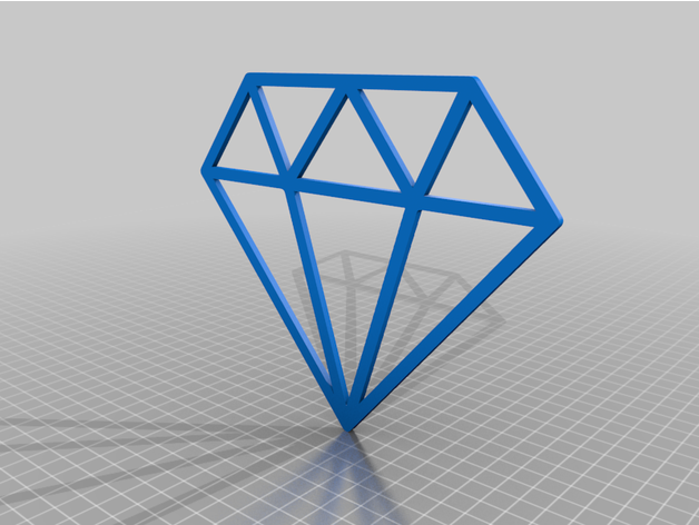 Diamond Outline By Zios007 Thingiverse Search more hd transparent diamond outline image on kindpng. thingiverse