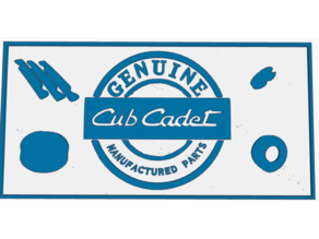Cub Cadet-Genuine Parts Plaque