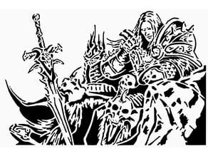 Lich King stencil