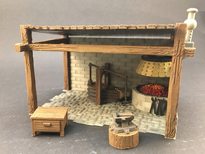 Blacksmith Shop for 28mm miniatures gaming