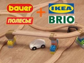 Bauer / polesie to brio / ikea railway adapters