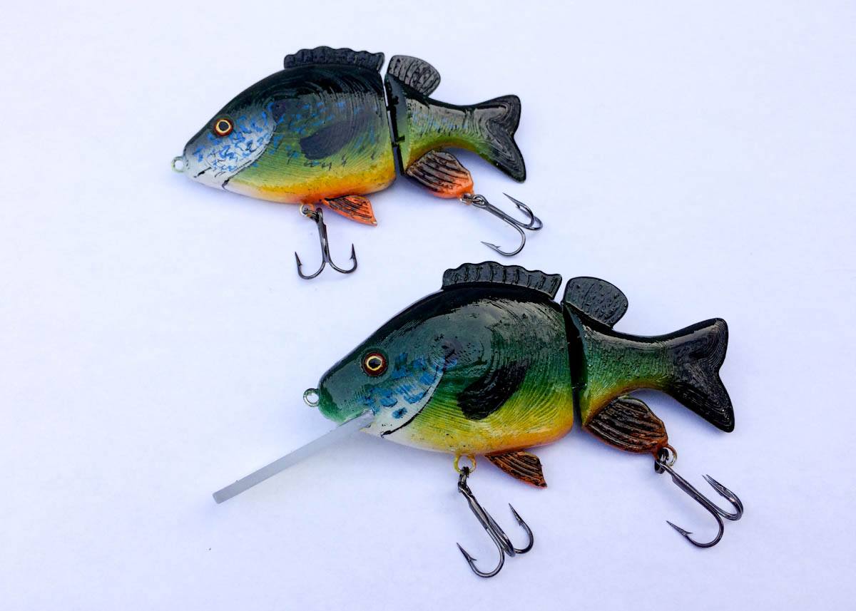 Realalistic sunfish jointed swimbait fishing lure by for Airbrushing fishing lures