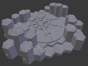 Basalt Terrain Temple
