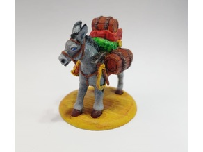 Pack Mule - Casual Pose - Tabletop Miniature - Remix