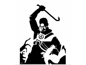 Gordon freeman stencil