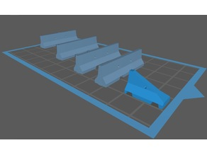 Jersey Barriers in HO Scale  (Scaleable to N-Scale or Any Scale)