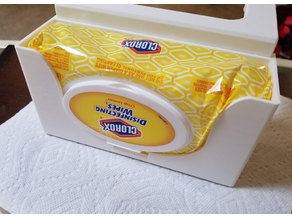 Clorox Wipes Holder - Cube Mount for Haworth Compose - With STEP file