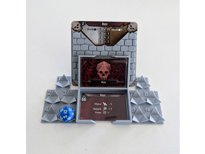 Gloomhaven Monster Stats and Damage Holder - d20