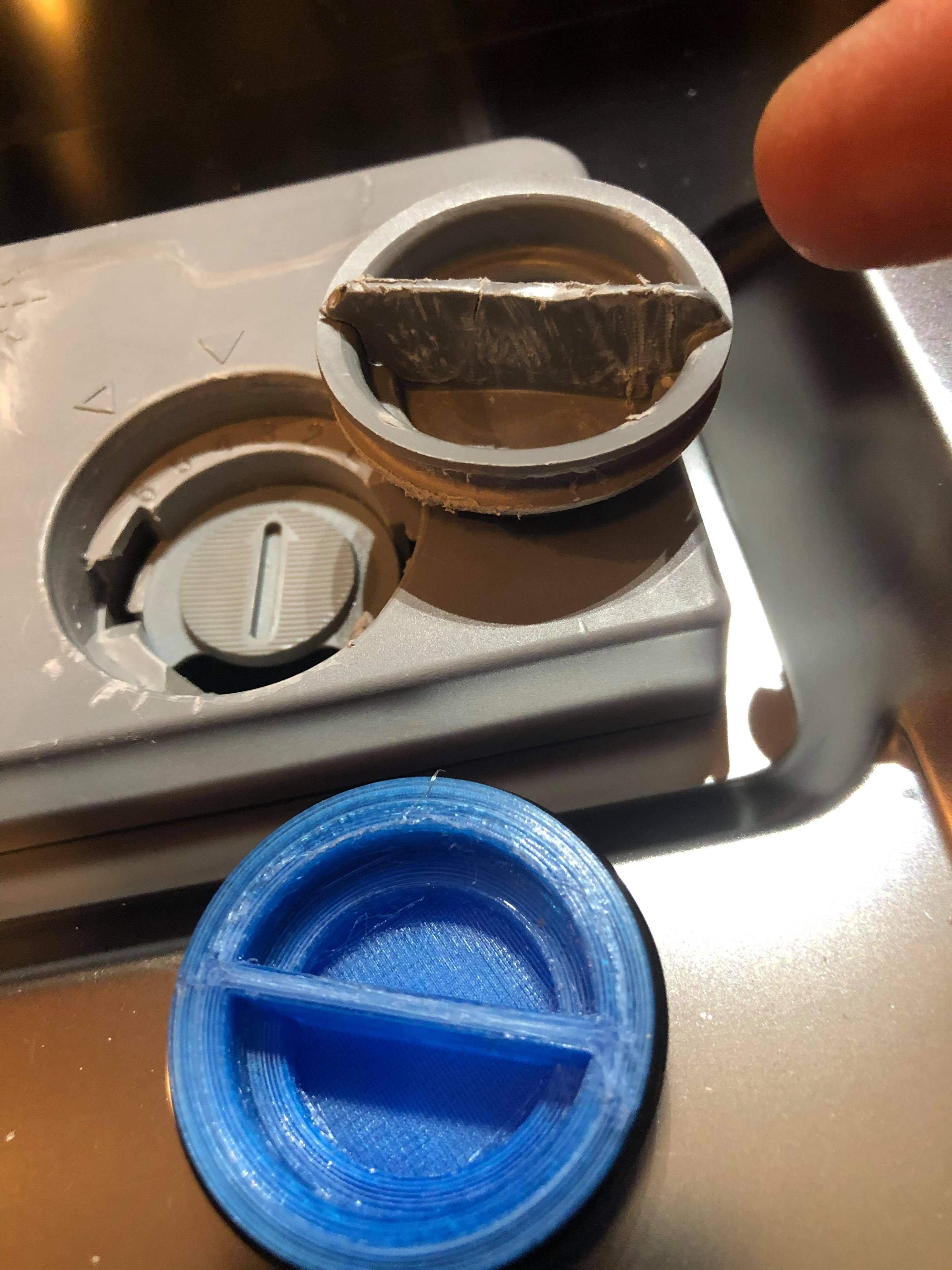 Detergent dispenser lid for Asko D3121dishwasher
