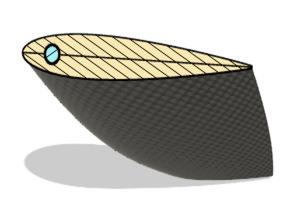 Sprint Kayak Rudder - Fits Vajda K1 M - Full Size
