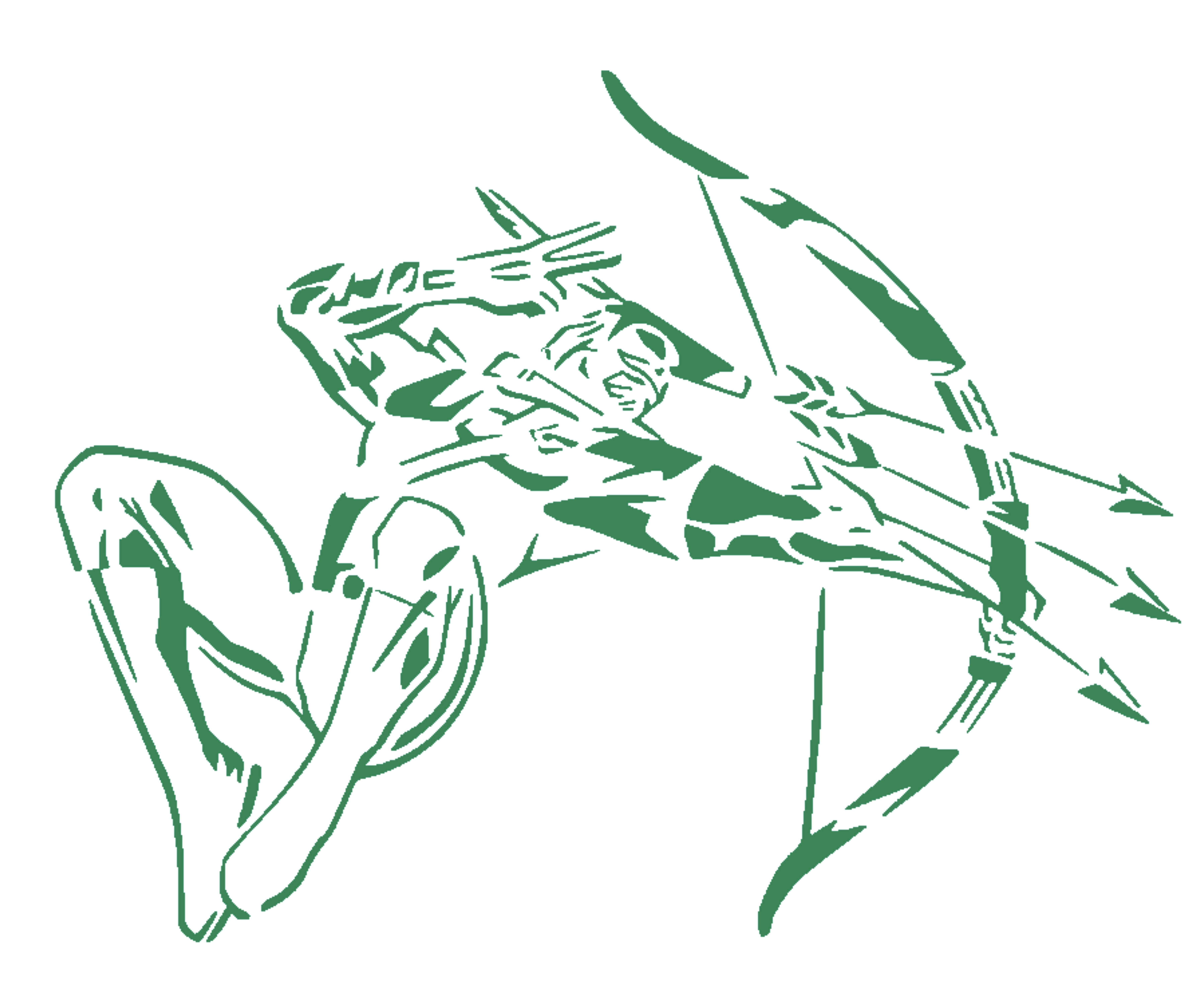 Green Arrow stencil
