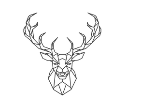 Low Poly Deer Jaegermeister