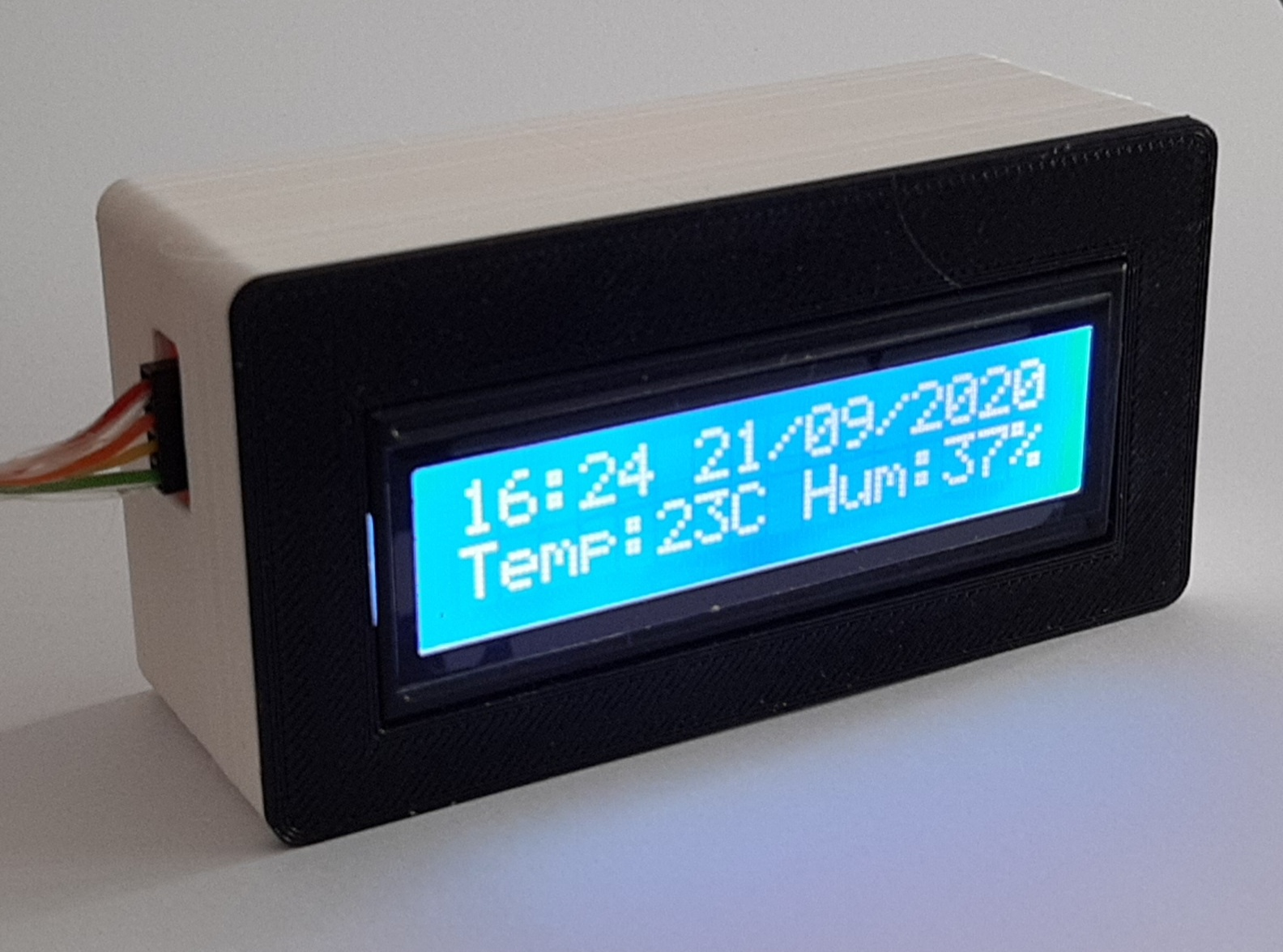 LCD display snap fit case 16x2
