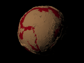 Expanding Earth scaled one in sixty million