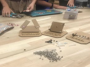 Cardboard Techniques Mini Tabletop Displays