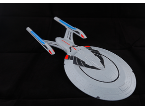 Star Trek Enterprise E (2 parts + alignment pins for easy and big printing ~385mm)