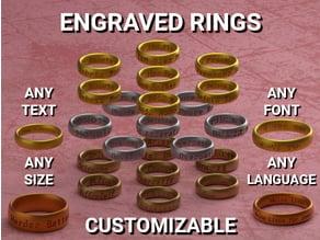 Customizable Engraved Rings
