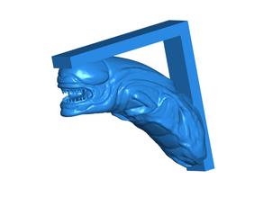 Alien Chestburster Shelf Bracket (Nuclear Tape Mount)