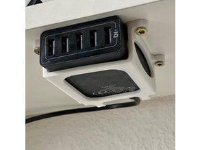 Holder for Anker PowerPort 40W 5-Port USB charger
