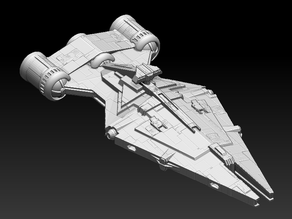 Arquitens Light Cruiser - More Detail - X-Wing Scale