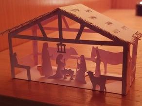 Papercraft Nativity Scene