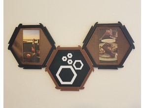Yet Another Modular Hexagon Picture Frame