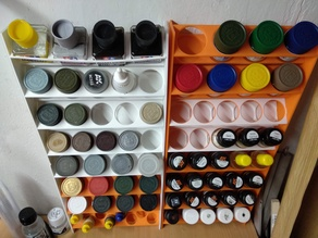 Modular scale model paint rack