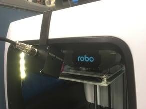 Robo C2 3D Printer Camera Mount With Wide Lens