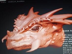 Space Raptor head