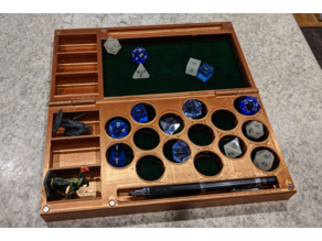RPG Dice and Miniature Case with Rolling Tray