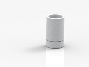 Simple pen holder with indent