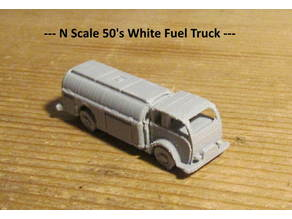 50's White CEO Fuel Truck - N Scale