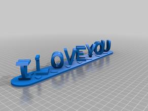 I Love You - I Know Dual Letter Blocks Illusion