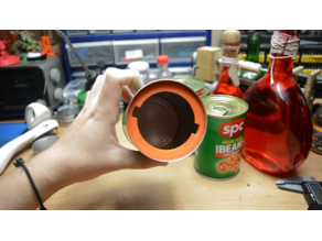 Bean can stash container