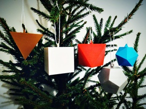 Platonic Solids (Christmas Ornaments)