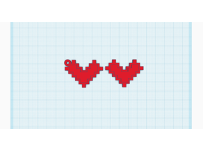 8-Bit Heart Keychain (and without the ring)
