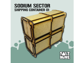 Sodium Sector - Shipping Container (3mm - mdf - lasercut)