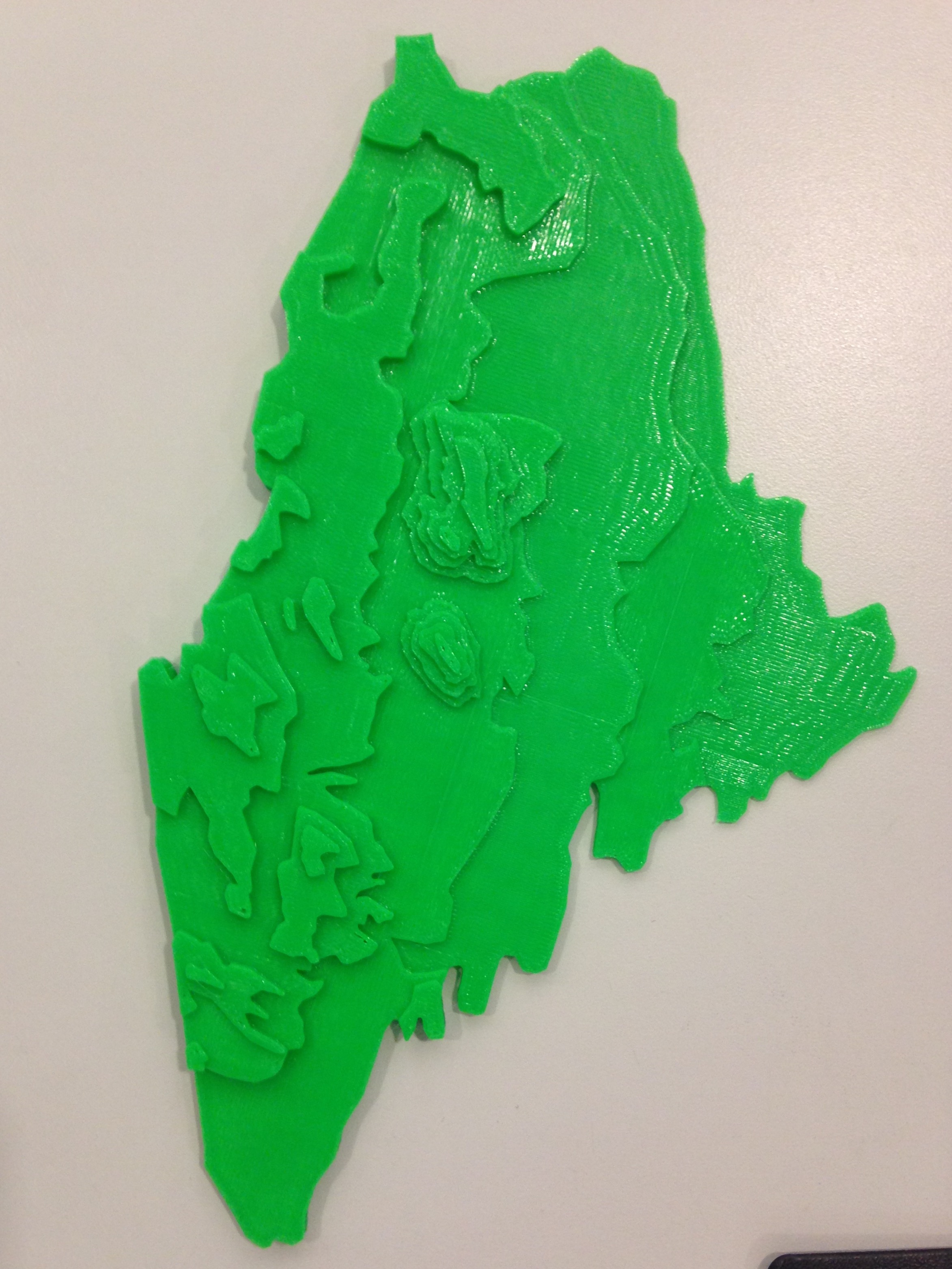 Topography Map Of Maine.Elevation Map Of Maine By Harper C