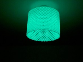 Glowing lampshade