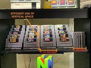 Super Nintendo Cartridge Display Stand